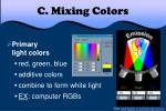 c mixing colors