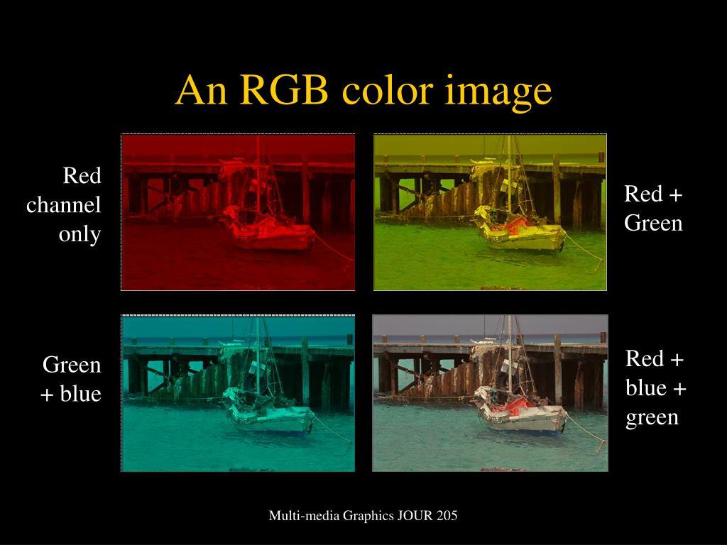An RGB color image