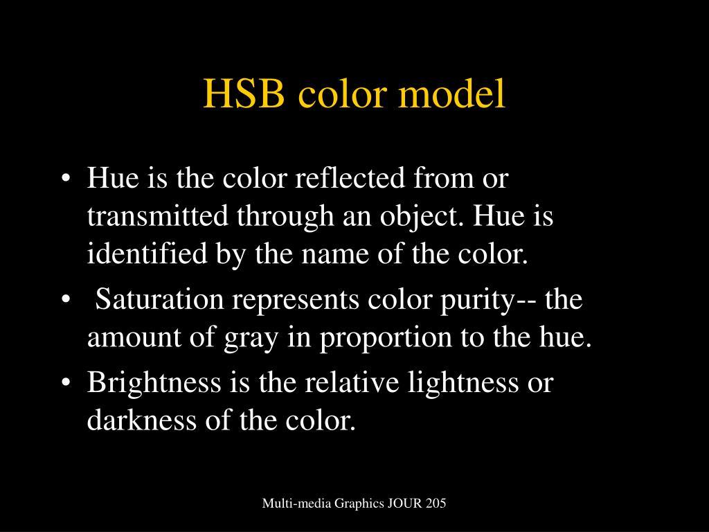 HSB color model
