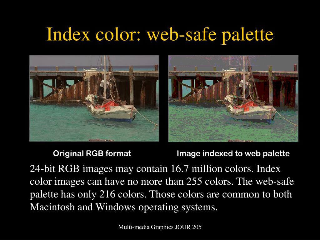 Index color: web-safe palette
