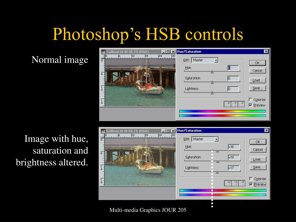 Photoshop's HSB controls