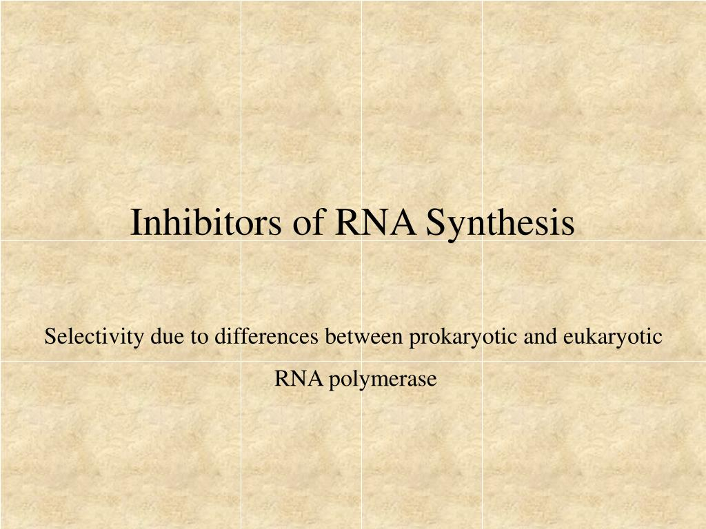 Inhibitors of RNA Synthesis