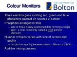 colour monitors