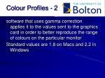 colour profiles 2