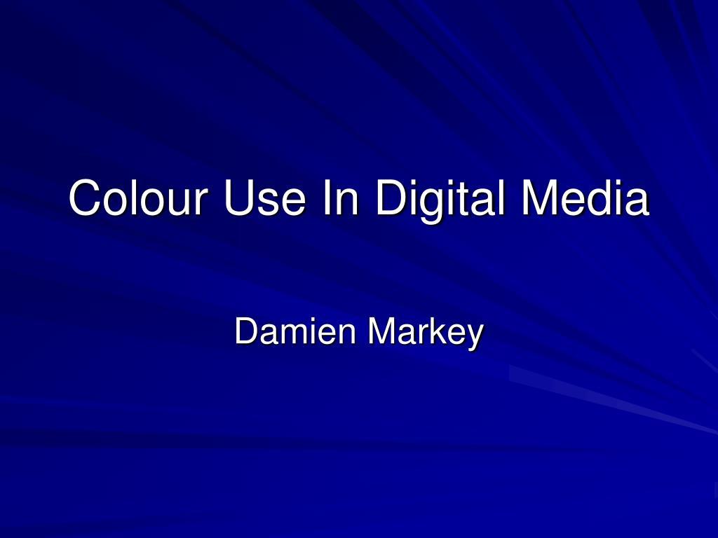 colour use in digital media l.