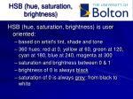 hsb hue saturation brightness