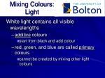 mixing colours light
