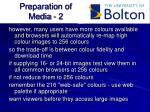 preparation of media 2