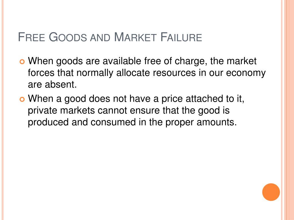 Free Goods and Market Failure