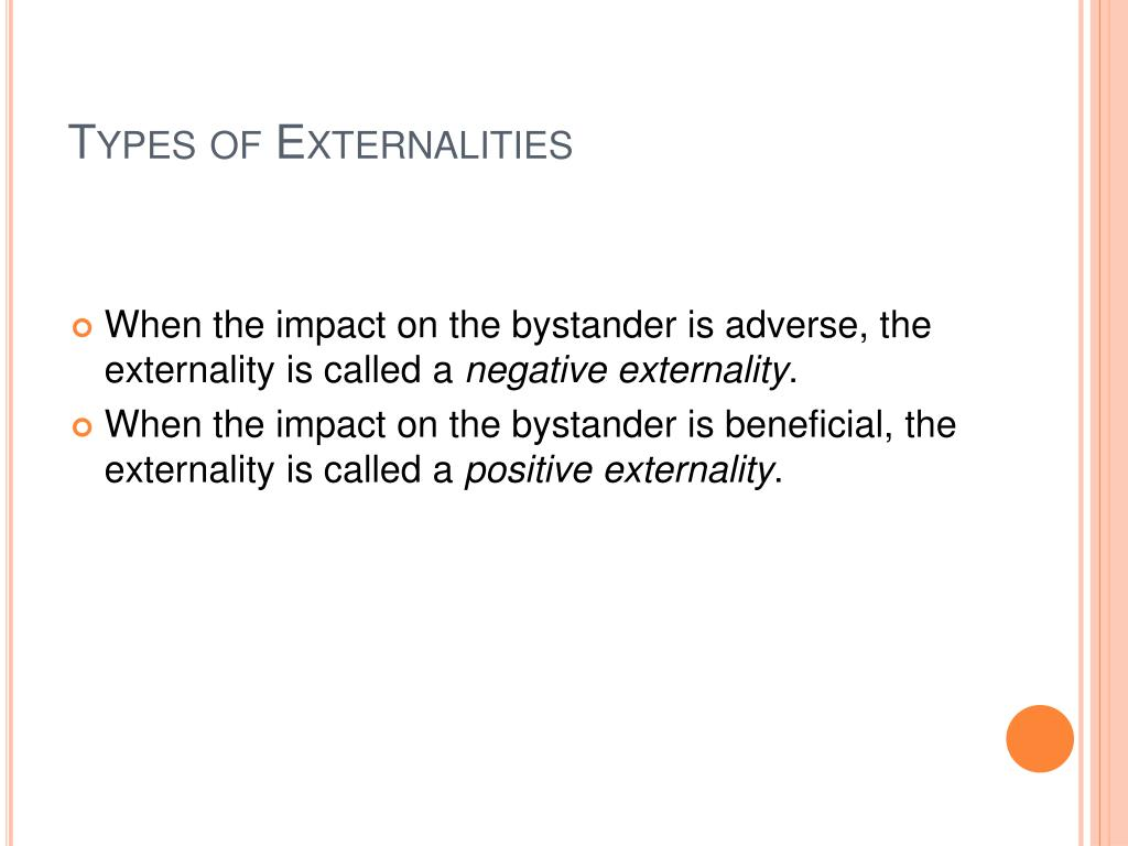 Types of Externalities