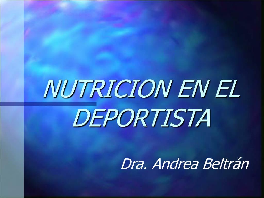 NUTRICION EN EL DEPORTISTA