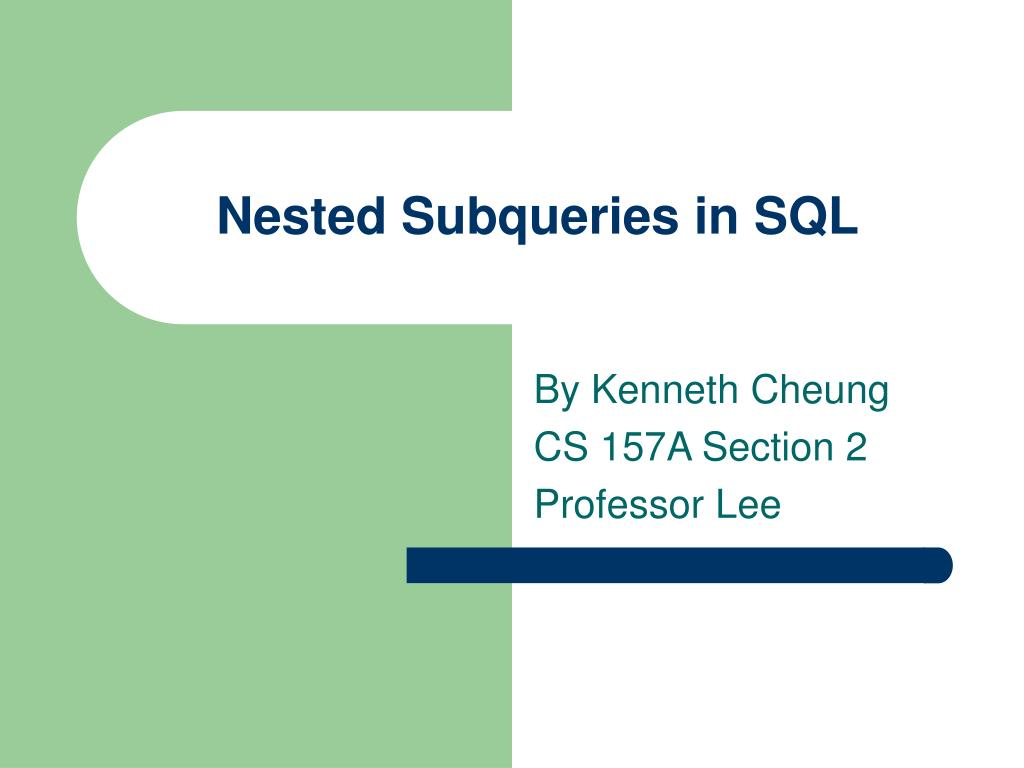 nested subqueries in sql l.