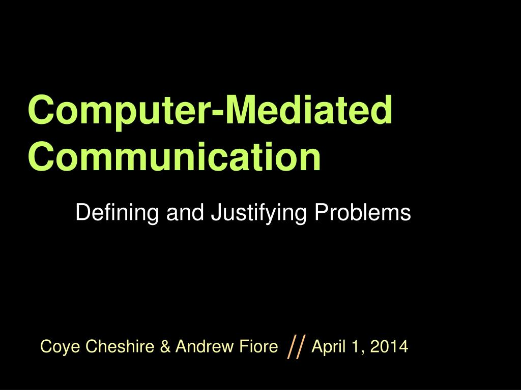 computer mediated communication l.