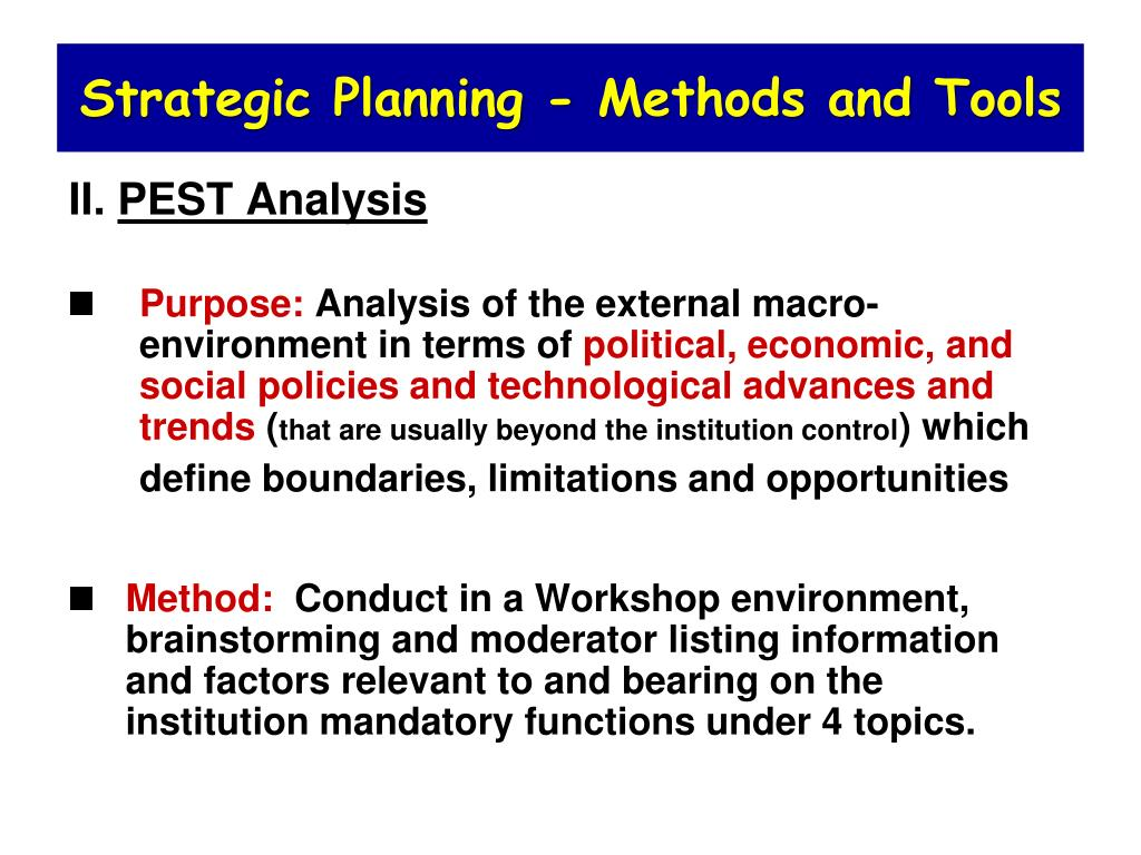 PPT - Lec  6  Strategic Planning for Universities PowerPoint