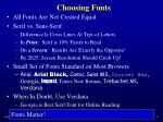 choosing fonts