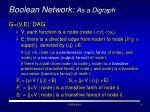 boolean network as a digraph
