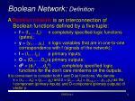 boolean network definition