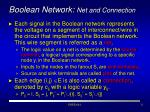 boolean network net and connection
