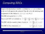 computing sdcs