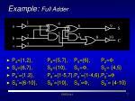 example full adder7