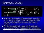 example full adder9
