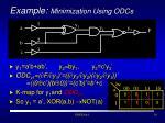 example minimization using odcs