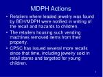 mdph actions