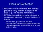 plans for notification