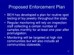 proposed enforcement plan
