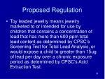 proposed regulation