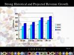 strong historical and projected revenue growth