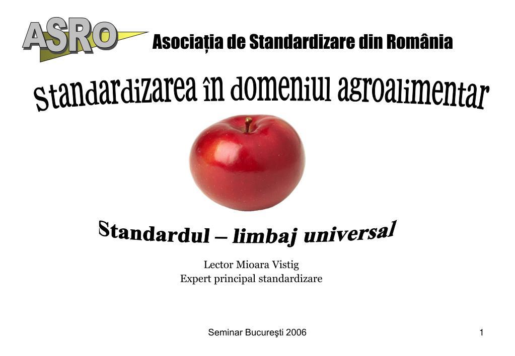 asocia ia de standardizare din rom nia