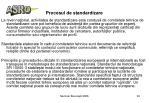 procesul de standardizare