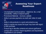assessing your export readiness