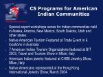 cs programs for american indian communities25
