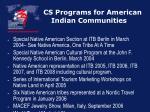 cs programs for american indian communities26