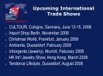 upcoming international trade shows