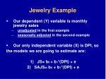 jewelry example
