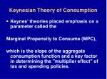 keynesian theory of consumption