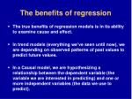 the benefits of regression