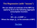 the regression with issues