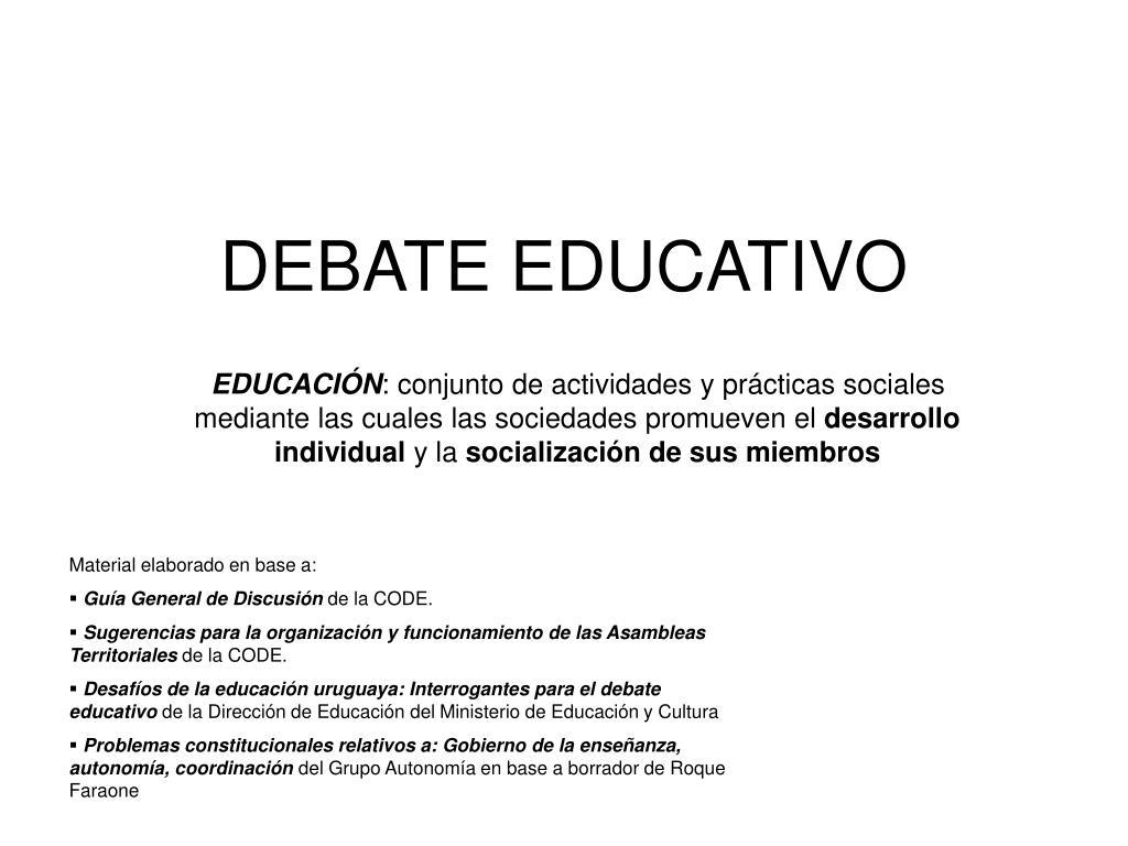 debate educativo l.