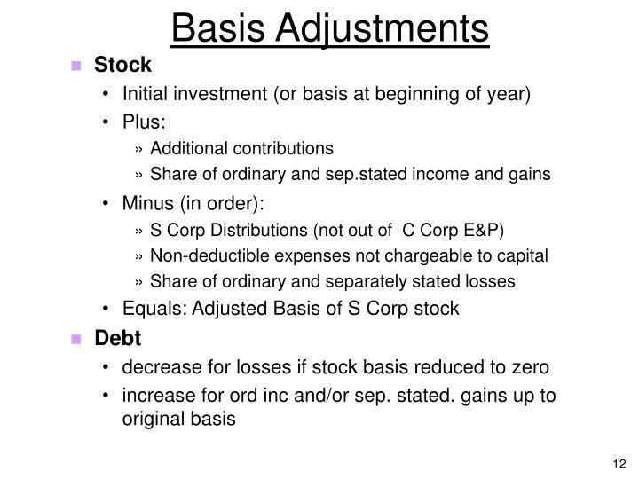 Basis Adjustments