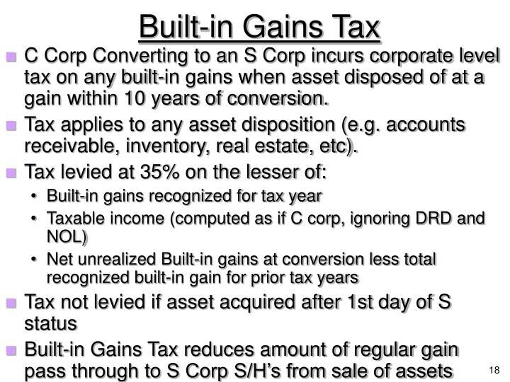 Built-in Gains Tax