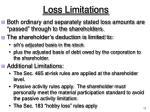 loss limitations