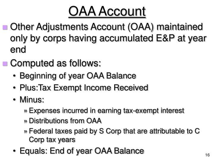 OAA Account