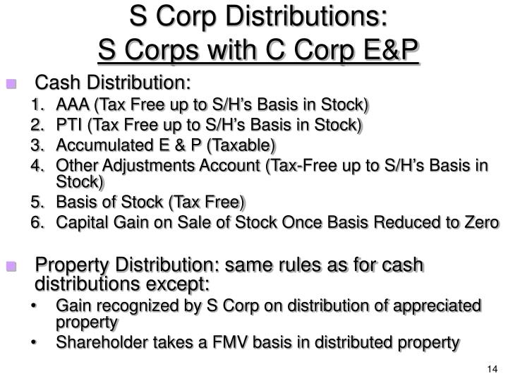 S Corp Distributions: