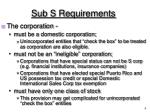 sub s requirements1