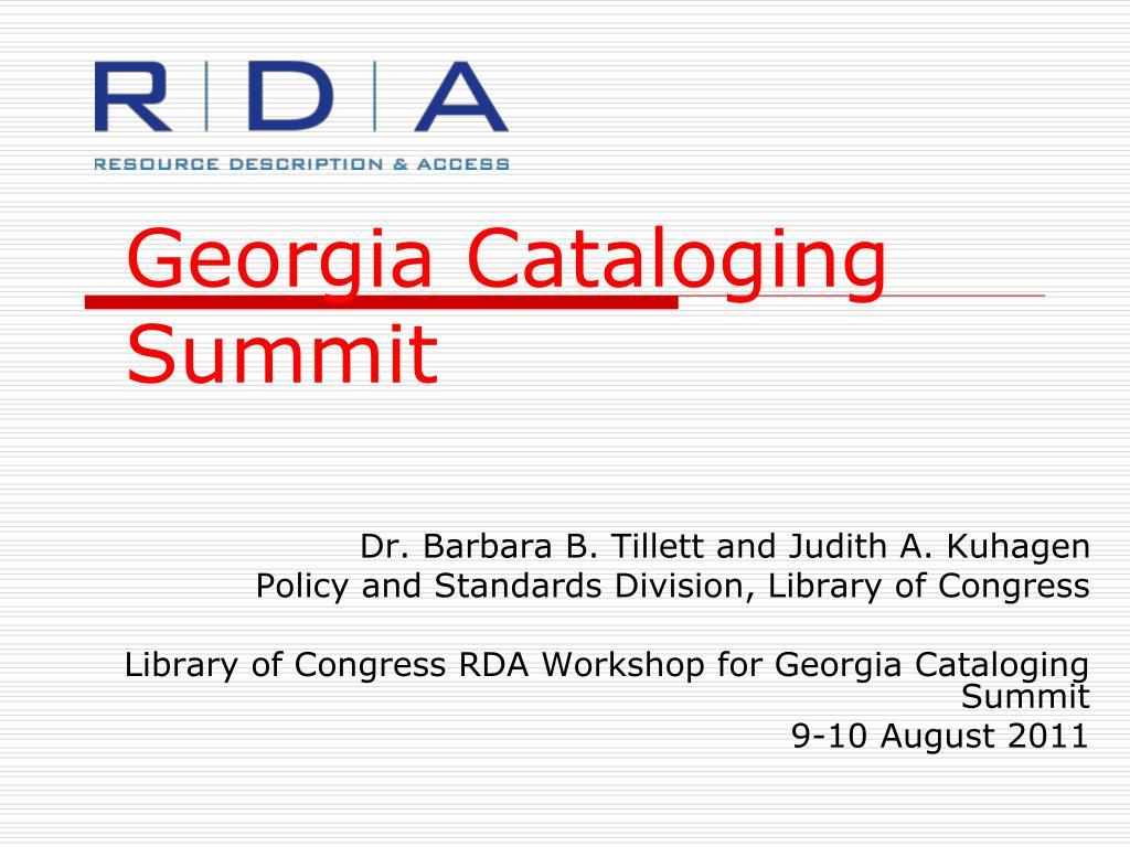 georgia cataloging summit l.