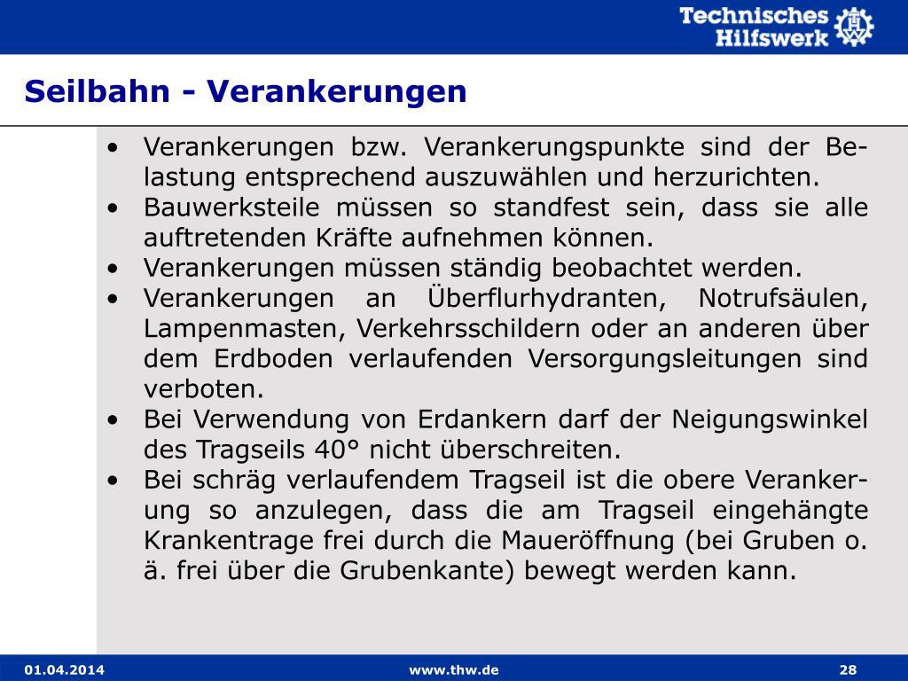 Seilbahn - Verankerungen